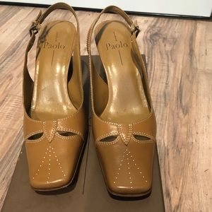 Linea Paolo Heels Dark Camel stitched leather 7